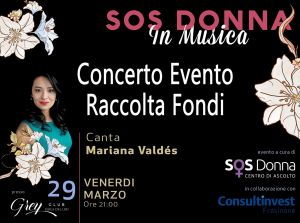 """Sos Donna"", questa sera evento di beneficenza al Grey Club"