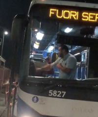 L'aggressione sul bus Cotral